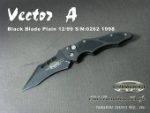 Microtech/マイクロテック Vector-A ヴェクター Black Blade Plain 12/99 S/N:0262 1998 [セカンド品]